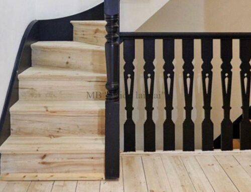 Laiptu turėklai mediniams laiptams