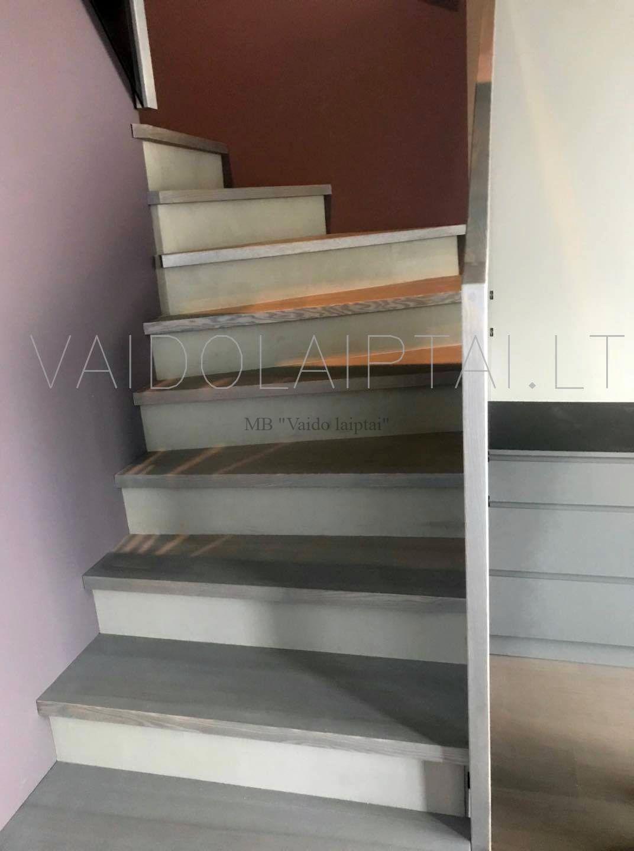 Laiptu gamyba, laiptai, laiptu pakopu montavimas
