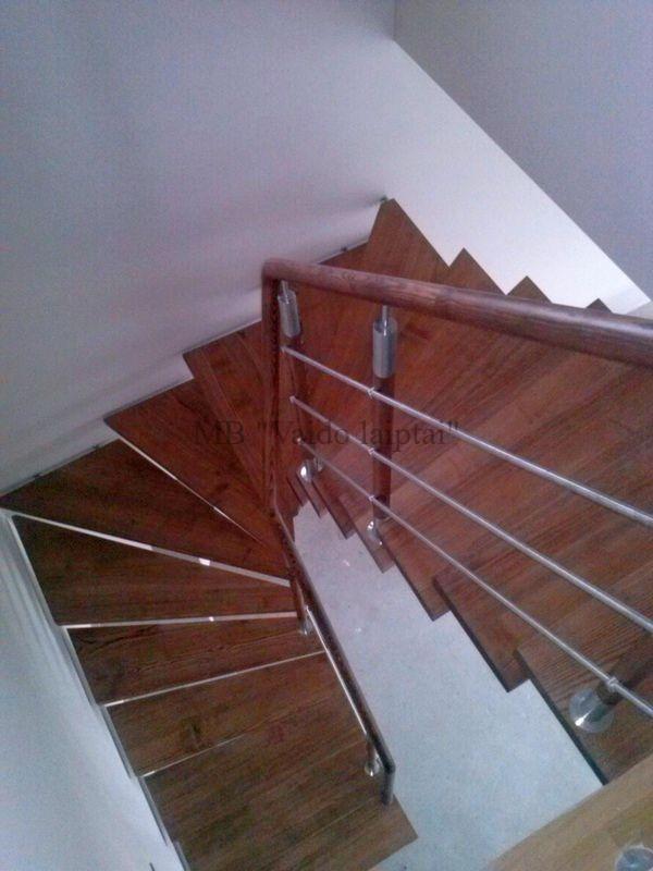 Laiptu gamyba, laiptai, mediniai laiptai