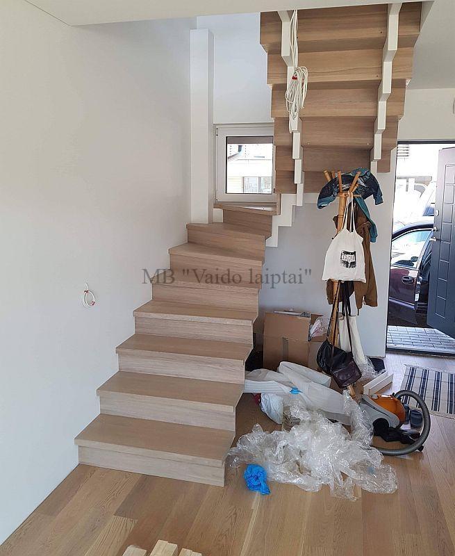 Laiptu gamyba, laiptai, mediniai lauko laiptai