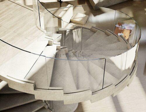 Laiptų gamyba – Foje mediniai laiptai