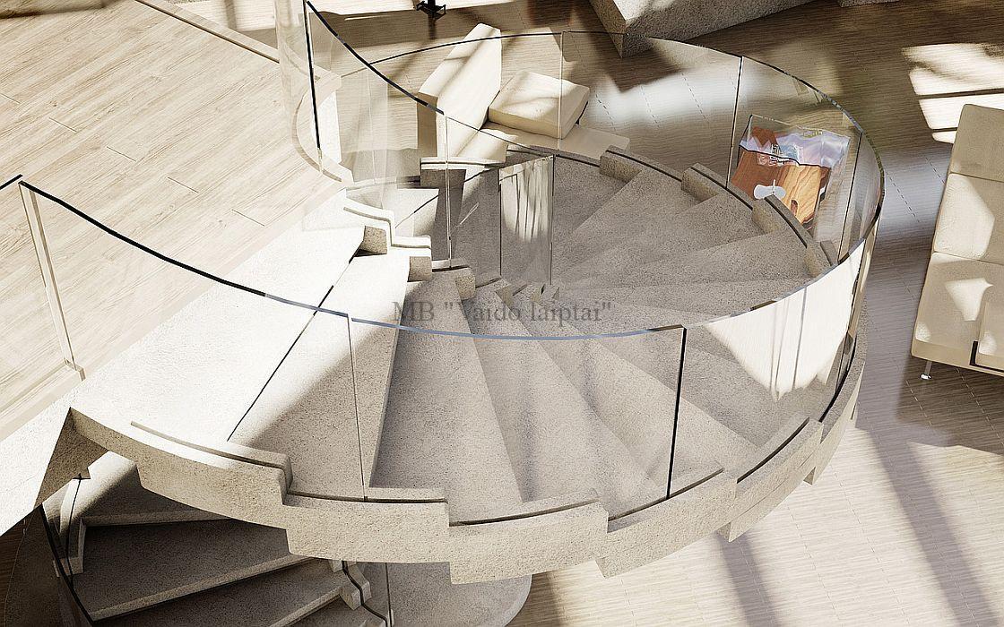 Laiptų gamyba - Foje laiptai
