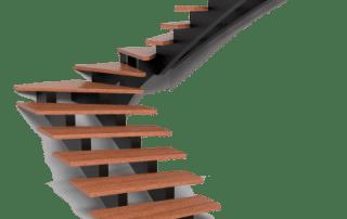 MB Vaido laiptai Dvigubas metalinis karkasas