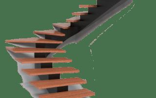 MB Vaido laiptai Lygiu dugnu metalinis karkasas
