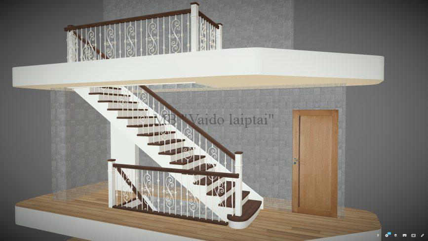 Paprasti mediniai laiptai