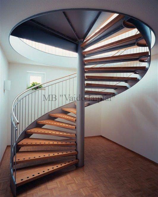 Sraigtiniai laiptai ypatingai išvaizdai